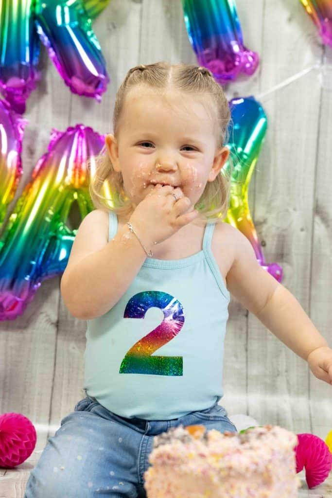Cakesmash 2 jarige, Cakesmash Berkel en Rodenrijs, Joyce Molenaar Fotografie